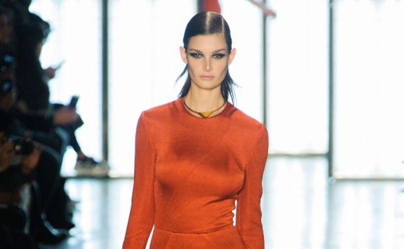 Schlusselfarbe der Womenswear-Catwalk-Trends Fall/Winter 2015-16