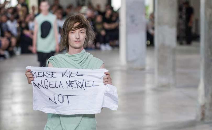 Rick Owens distanziert sich nach Merkel-Protest von Model